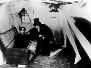 Le cabinet du docteur Caligari - Caligari le forain et Cesare le somnambule