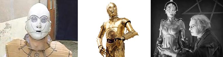 Le robot C3PO suédé par Colonnier - Le robot C3PO tel qu'il apparaît dans Star Wars – La référence à Metropolis
